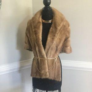 Vintage Mink Fur Stole/Wrap